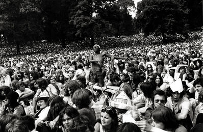 Frank Habicht, 'And the Crowd Went Crazy: Stones Concert, Hyde Park', 1969