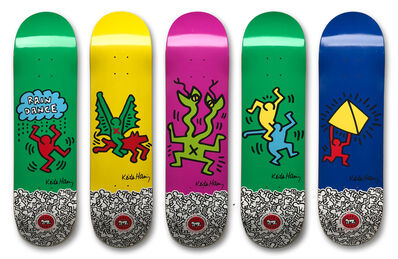 Keith Haring, 'Set of Five Skate Decks', 2012