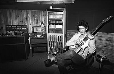 Lynn Goldsmith, 'Lou Reed in Recording Studio', 1977