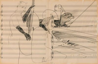 Nathan Joseph Roderick Oliveira, 'Andre Previn and Cellist', 1963
