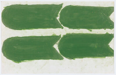 Evelyn Reyes, 'Carrots, Olive Green (Sideways Direction)', 2004-2009