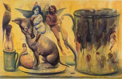 Roberto Fabelo, 'Viaje fantástico del ángel azul', 2003