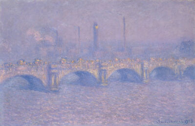 Claude Monet, 'Waterloo Bridge, Blurred sun', 1903