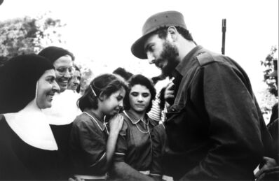 Burt Glinn, 'Fidel Castro 1960 Talk with adoring crowd', 1960