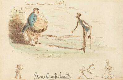 George Cruikshank, 'An Unkind Wish', ca. 1833