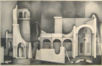 Clinton Adams, 'False Buildings ', 1949