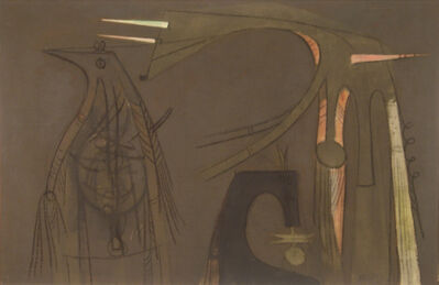 Wifredo Lam, 'Deux Personnages et un Oiseau [Two People and a Bird]', 1957