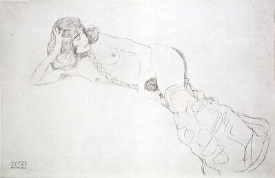 Gustav Klimt, 'Reclining Nude with Braid [Fünfundzwanzig Handzeichnungen]', 1919