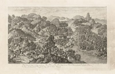 Isidore-Stanislaus-Henri Helman, 'Premier Combat entre l'Arm'e de l'Empire... (plate XII)', 1783
