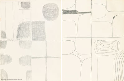 Kim Whanki, 'Untitled (2 works)'