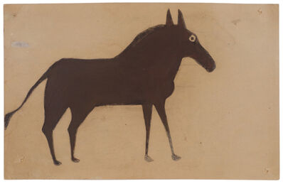 Bill Traylor, 'Untitled (Brown and black horse)', ca. 1941
