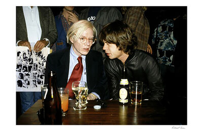 Richard E. Aaron, 'Mick Jagger And Andy Warhol', 2000-2009