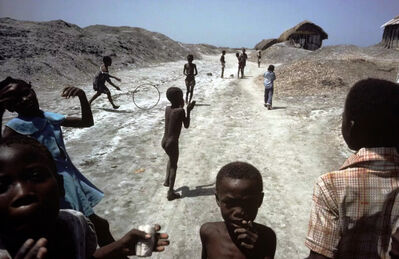 Alex Webb, 'Children Playing on Salt Flats Ganaives, Haiti', 1980
