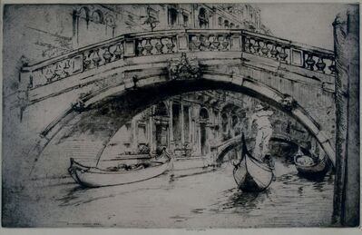Donald Shaw MacLaughlan, 'Under Formosa's Bridge, Venice', 1922