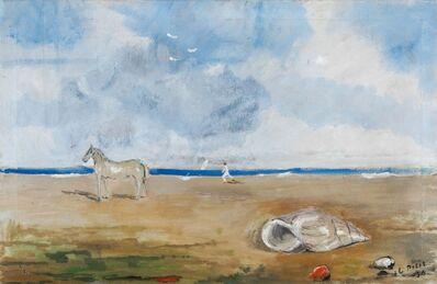 Filippo De Pisis, 'Marina con cavallino', 1930