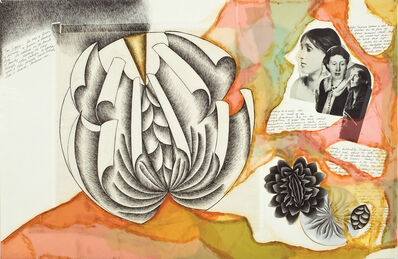 Judy Chicago, 'Virginia Woolf (preparatory drawing for The Dinner Party)', 1976