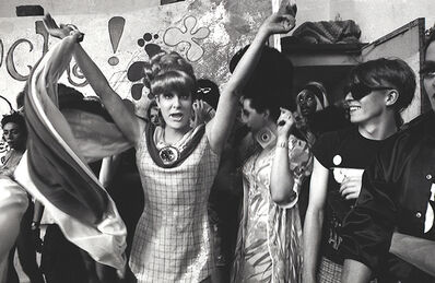 Bobby Miller, 'Lady Bunny onstage with others, Wigstock 1980s-90s', 1980-1995