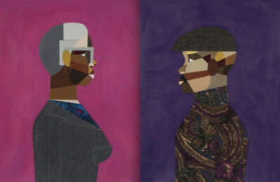 Derrick Adams, 'Pair: Interior Life (Man) & Woman', 2019