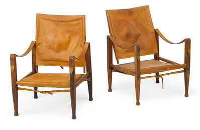 Kaare Klint, 'Pair of Safari chairs', 1960s