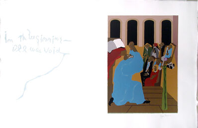"""Jacob Lawrence, 'No. 1. """"In the beginning all was void.""""', 1990"""
