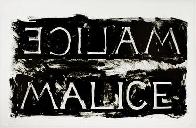 Bruce Nauman, 'Malice', 1980