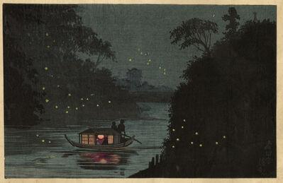Kobayashi Kiyochika 小林清親, 'Fireflies at Ochanomizu', ca. 1879
