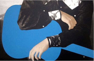 John Baldessari, 'Person with Guitar (blue)', 2004