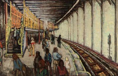 Philip Reisman, 'Union Square Station II, (Downtown)', 1976
