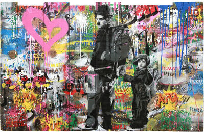 Mr. Brainwash, 'Chaplin & Kid', 2017