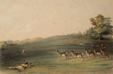 George Catlin, 'Antelope Shooting', ca. 1845