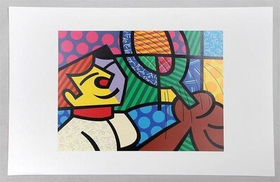 "Romero Britto, 'Romero Britto Silkscreen on paper ""Tennis Player"" Pop Art Cubism', 1994"