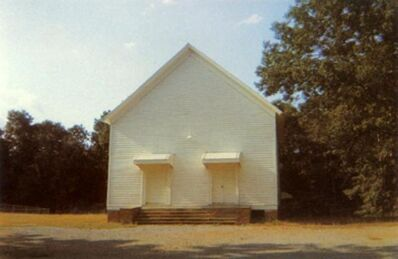 William Christenberry, 'Church Between Greensboro and Marion, Alabama', 1973