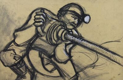 Norman Cornish, 'Miner with drill i', ca. 1965