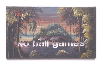 Amikam Toren, 'Armchair Painting - Untitled (no ball games)', 1990