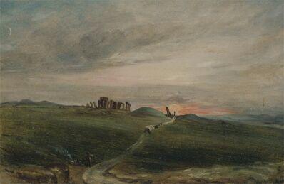 John Constable, 'Stonehenge at Sunset', 1836