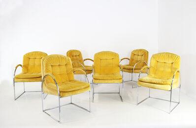 Milo Baughman, 'Six armchairs Milo Baughman Usa 1970/80', ca. 1980