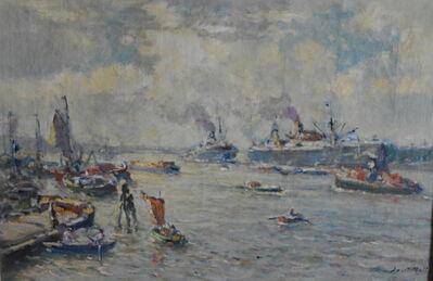 Evert Moll, 'Rotterdam Harbour', ca. 1914