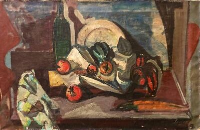 Frederick B. Serger, 'Still Life Fruits and Vegetables French Fauvist Oil Painting', 1940-1949