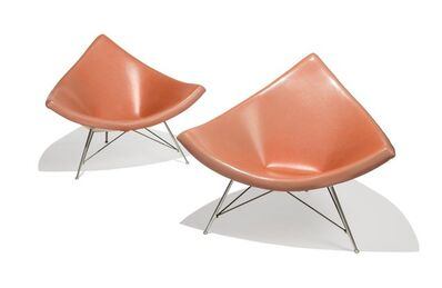 George Nelson, 'Pair of Coconut Lounge Chairs from Craig Ellwood's Hunt House'