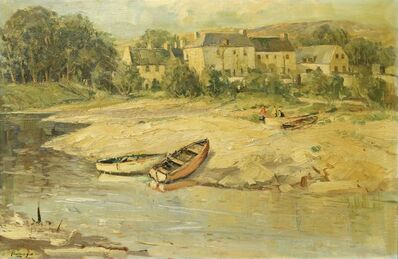 Rowland Hill, 'Boats moored on a tranquil shore'