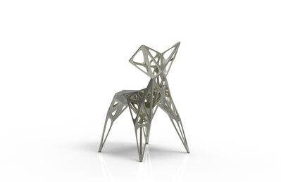Zhoujie Zhang, 'MC005-F-Matt (Endless Form Chair Series)', 2018