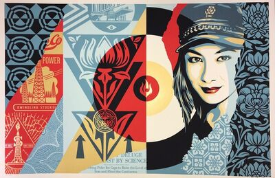 Shepard Fairey, 'Shepard Fairey Raise The Levels Print Obey Giant Poster 2019 Street Art Pop Art', 2019