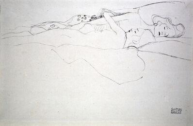 """Gustav Klimt, 'Study for """"Water Serpents II"""" [Fünfundzwanzig Handzeichnungen]', 1919"""