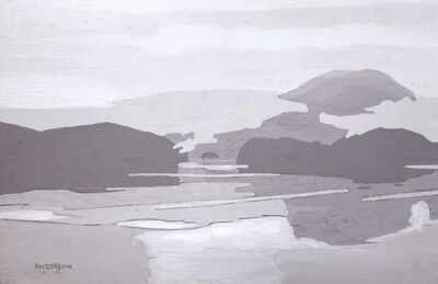 Clayton Anderson, 'Sketch for Morning Mist - Cordero Channel'