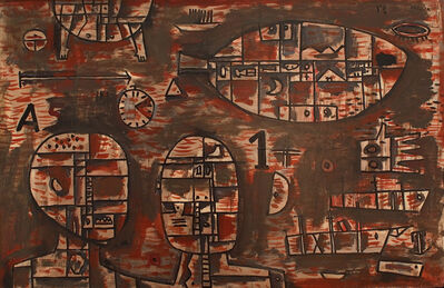 Gonzalo Fonseca, 'Symbols on wood', c.1959