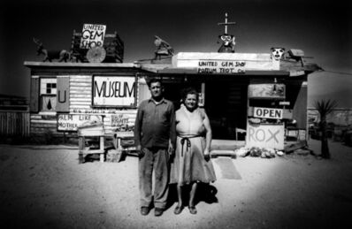 Ed van der Elsken, 'Call and Ruby Black in front of their museum, Mojave Desert, USA', 1960