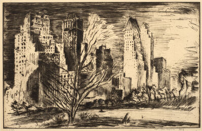 Werner Drewes, 'Central Park West', 1933