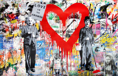 Mr. Brainwash, 'Juxtapose (Red Heart)', 2017