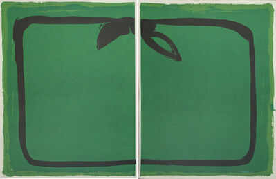 Joan Hernández Pijuan, 'Verd i orla negra / Green, and black border', 1987