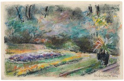 Max Liebermann, 'Die Blumenterrasse im Garten des Künstlers am Wannsee nach Nordwesten', Frühjahr 1927